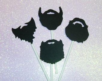 Beards / Lumberjack / Little Man / Duck Dynasty / Manly Man Cupcake toppers  (254C)