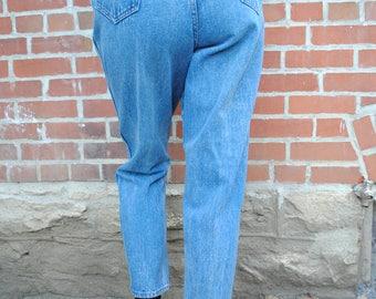 Vintage Jeans, High Waisted, High Waist, Denim Republic, 80's Clothing, 80's Jeans, Acid Wash, Medium Wash, Small, Medium, Vintage Clothing