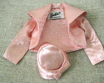 Barbie Glitter Bolero - Pink Bolero - Glitter Bolero - Vintage Barbie -  Pink Glitter Hat - Vintage Barbie Clothes - Collectible