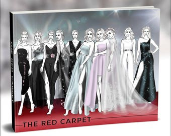 The Red Carpet- Promo Set | Fashion Template, Fashion Illustration, Croquis, Fashion drawing