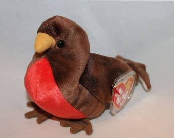 Beanie baby Early red breasted robin