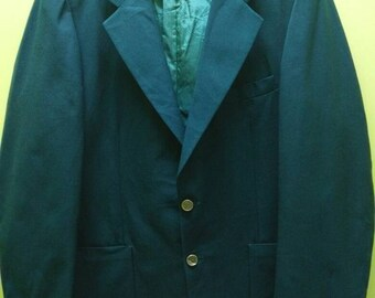 Vintage Yves Saint Laurent Navy Green Blazer Rare