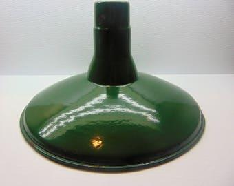 Vintage Green Enamel   Lamp Shade