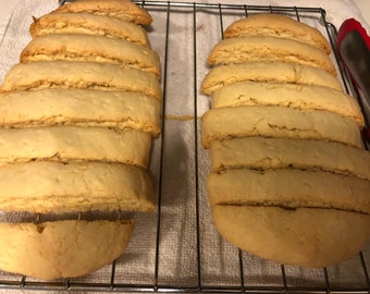 Coconut vanilla biscotti cookies