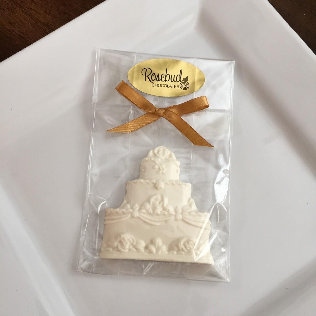 Chocolate Cake White Wedding Day Bridal Shower Birthday Candy