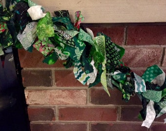Back in Stock - St. Patrick's Day Lighted Fabric Garland