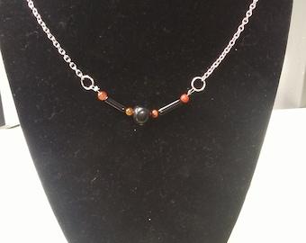 Black Obsidian and Golden Sheen Obsidian Necklace