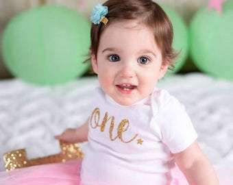Gold First Birthday, Glitter Birthday outfit, First Birthday, Twinkle Little Star, Baby Bodysuit, Star outfit, Baby Gift