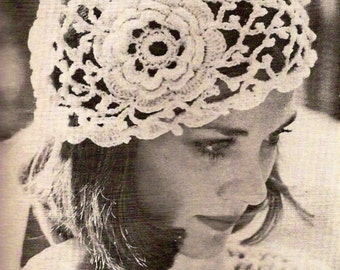Irish Rose Crochet Hat Vintage Crochet Pattern 359