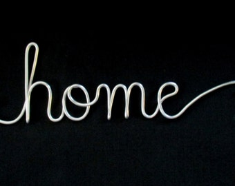 wire word home,wire words,home,wire script words,wire cursive words,wire word art,decorative words,signs,house warming,hanging words,writing