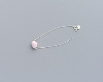 Ceramic cobblestone bracelet, Minimalist bracelet Simple bracelet Everyday bracelet Porcelain bracelet Girlfriend gift Sweet16 gift-boohua