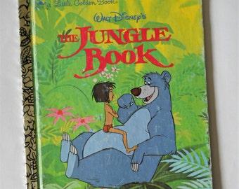 The Jungle Book - Vintage Little Golden Book - Disney Stories - Mowgli - 1991