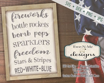 July 4th svg - 4th of July svg - patriotic svg - Fireworks SVG - Indpendence Day svg  - Commercial Use svg, dxf, png, jpg