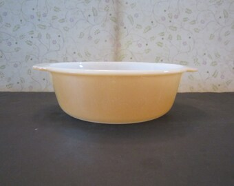 Vintage Peach Lustre Fire-King 1 1/2 Quart Casserole