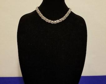 Beautiful KI Italy Byzantine necklace Sterling silver