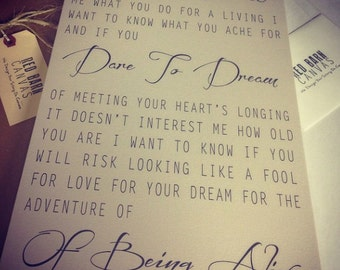 Words to live by, Values, The Invitation by Oriah