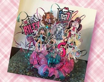 Monster Ghouls Birthday Cake Topper
