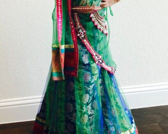 Kid's Girls Lehenga Choli/ Girls Chaniya Choli/ Girls Indian Wear/Girls Ethnic Indian Wear/ Girls Indian wear
