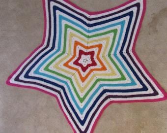 Rainbow Star Baby Afghan
