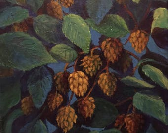Beer Craft Hops-Acrylic Painting