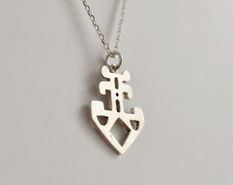 Silver handmade anchor pendant