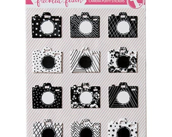 Freckled Fawn Puffy Stickers - Cameras