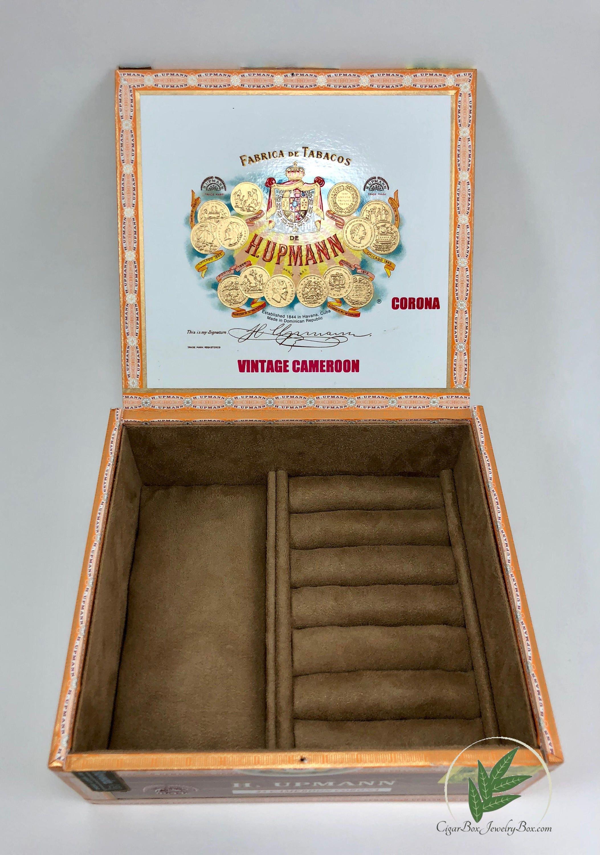 Zigarrenkiste Schmuck-Box Uhrenbox Herren-Schmuck-Box