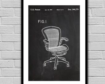 Desk Chair Patent, Desk Chair Poster, Desk Chair Blueprint, Office Chair Print, Desk Chair Art, Desk Chair Decor, Office Wall Art