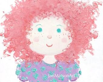 Nursery wall art, Rag doll painting, Baby girls room, Nursery decor, Girl nursery art, girls room painting, girls room decor, Etsy art