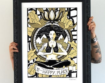 My Happy place, Limited Edition signed Artprint