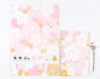 Pink Sakura Letter Writing Set Writing Paper Envelope Set