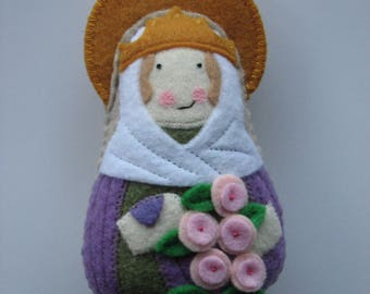Saint Isabelle of France Felt Saint  Softie