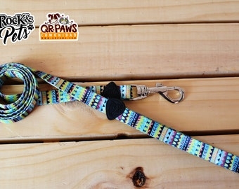 Personalized Leash Design Green Tribal