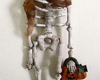 Lady Bones Halloween Skeleton Doll PDF Epattern -Instant Download-Sewing and Painting Pattern by Edna Bridges