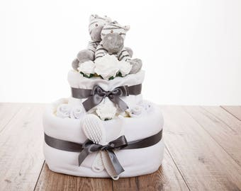 Gifts for Twins - Twins Nappy Cake - Twins Baby Shower Gift - Twin Baby Gift - Free UK Delivery