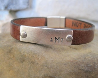 Secret Message Leather Bracelet - Mens, Womens, Childrens Custom Bracelet