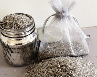 Biodegradable Glittery Confetti, Silver Glitterfetti™, Wedding Exit, Wedding Toss, Silver Wedding Confetti