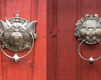 Labyrinth door knockers.  Right/Left - 3D Printed