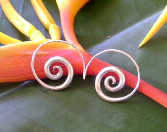 Spiral Silver Earrings - The Spiral Sunshine Bloom (18)