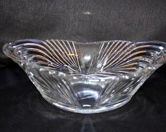 Vintage  Oval Glass Centerpiece Bowl