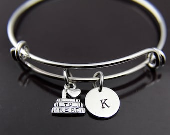 I Love to Read Book Charm Bangle Silver Book Charm Bangle I love to Read Bracelet Bookworm Charm Book Jewelry Personalized Bracelet