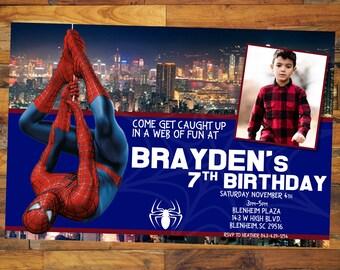 Supergirl party invitations dc supergirl birthday supergirl spider invitation marvel spiderman birthday printable spiderman invitation spiderman photo invitespider solutioingenieria Images