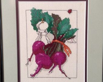 Beets Framed Cross Stitch