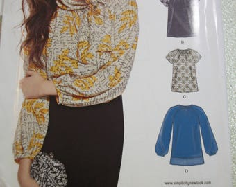 New Look S0947 Misses 7 sizes in 1 size 10 to 22 tops, blouses