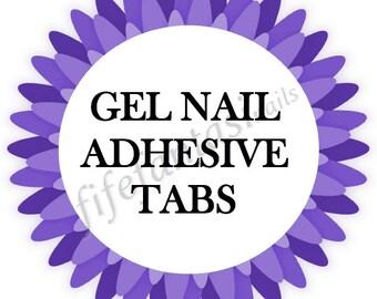 Nail adhesive tabs, 24 Press on Nail Adhesive Tabs, Double Sided Stickers, Fake Nails, False Nails, Glue On Nails