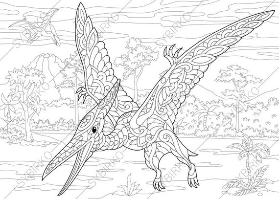 pterodactyl dinosaur pterosaur dino coloring pages animal. Black Bedroom Furniture Sets. Home Design Ideas