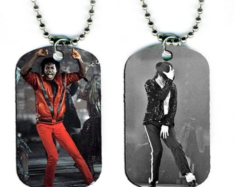 DOG TAG NECKLACE - Michael Jackson #2 King of Pop Music Star Singer
