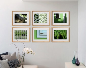 Lime Green 6H Print Collection.  Detail photography, urban photos, nature, decor, wall art, artwork, large format photo.