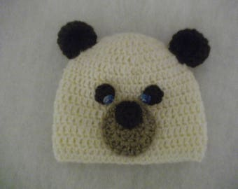 beanie baby bear unbleached Brown and beige colors ideal for cold weather