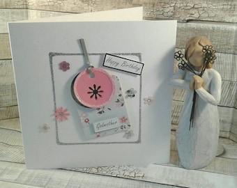 GODMOTHER BIRTHDAY CARD Birthday Card Godmother Handmade Personalised Woman Female